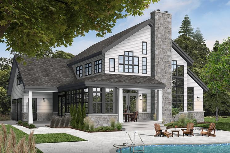 Country House Plan - Wakefield 2 72231 - Rear Exterior
