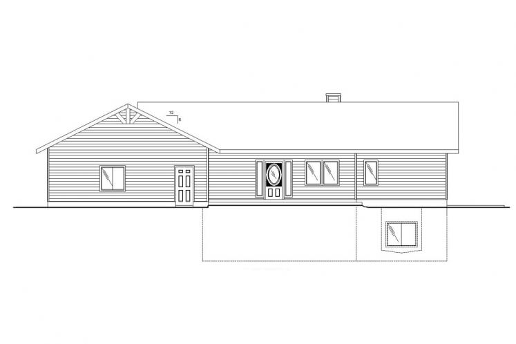 Traditional House Plan -  72281 - Front Exterior