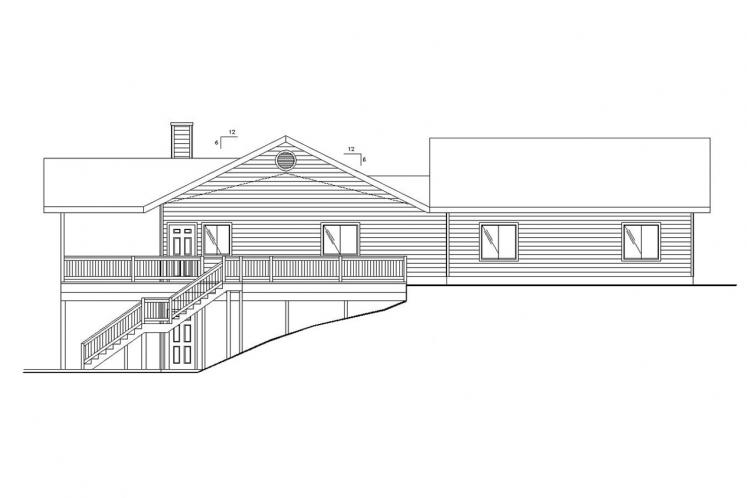 Traditional House Plan -  72281 - Left Exterior
