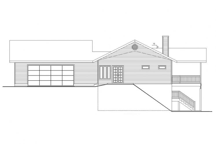 Country House Plan -  72281 - Right Exterior