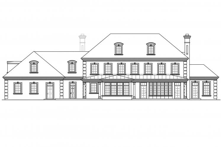 Colonial House Plan - Edgewood 72345 - Rear Exterior