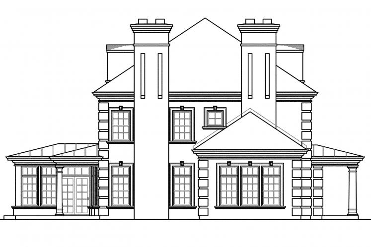 Southern House Plan - Edgewood 72345 - Left Exterior
