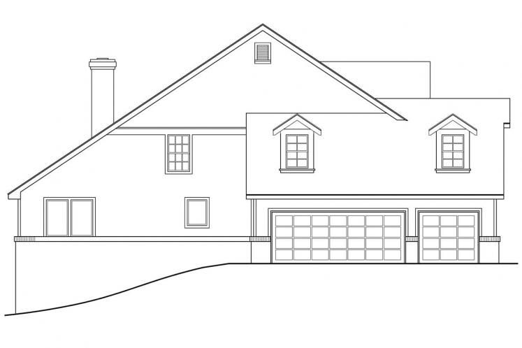 Traditional House Plan - Clayton 72369 - Left Exterior