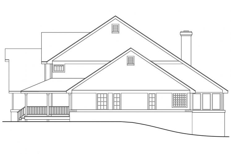 Country House Plan - Clayton 72369 - Right Exterior