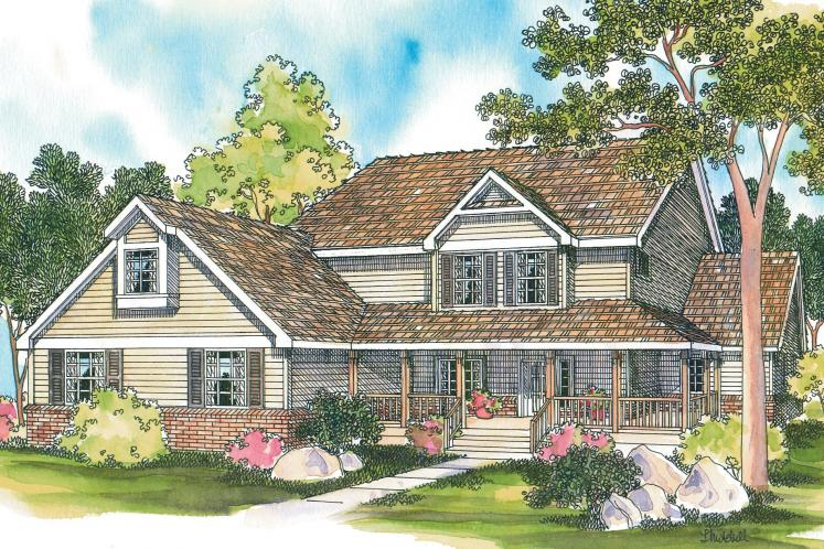 Country House Plan - Clayton 72369 - Front Exterior