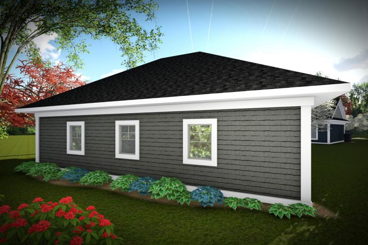 Classic Garage Plan -  72411 - Rear Exterior