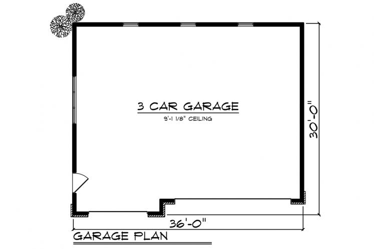Traditional Garage Plan -  72411 - 1st Floor Plan