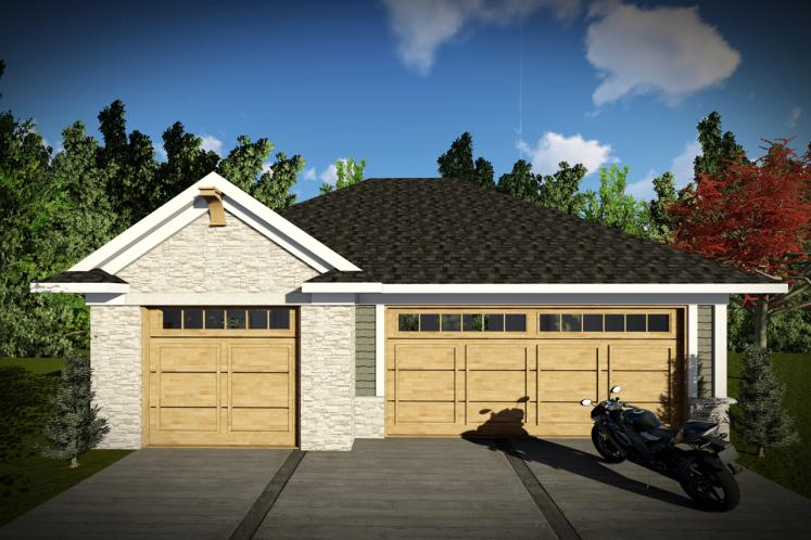 Traditional Garage Plan -  72411 - Front Exterior