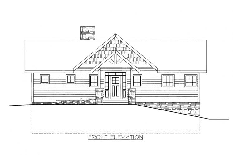 Lodge Style House Plan -  72422 - Front Exterior