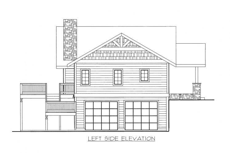 Craftsman House Plan -  72422 - Left Exterior