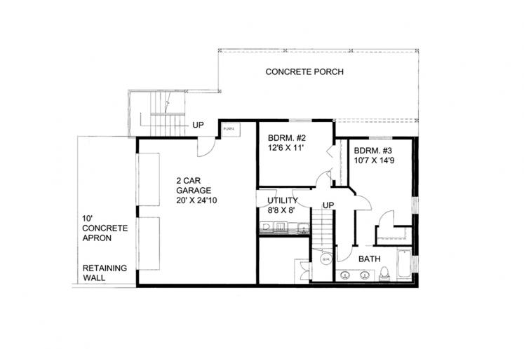 Craftsman House Plan -  72422 - Basement Floor Plan