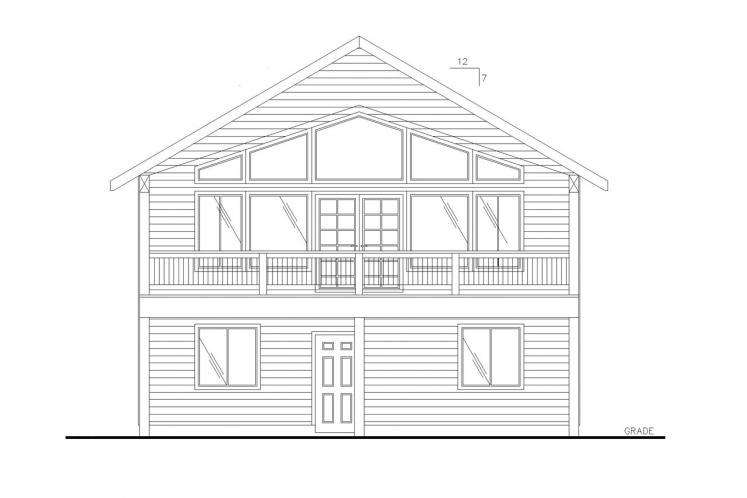 A-Frame House Plan -  72622 - Front Exterior