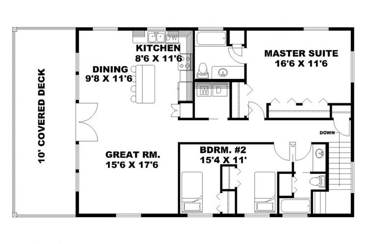 Country House Plan -  72622 - 2nd Floor Plan