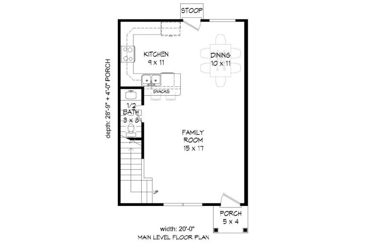 Traditional House Plan - Butler's Gin 72631 - 1st Floor Plan