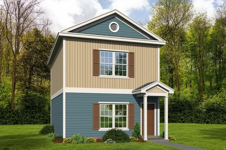 Traditional House Plan - Butler's Gin 72631 - Front Exterior
