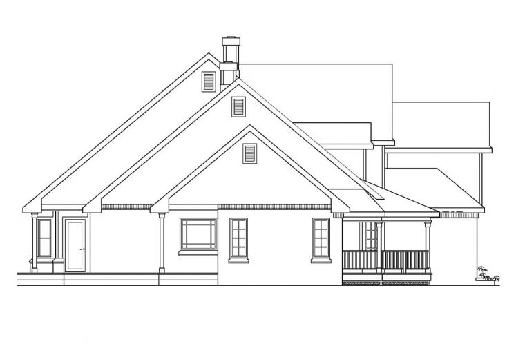 Traditional House Plan - Heartwood 72670 - Left Exterior