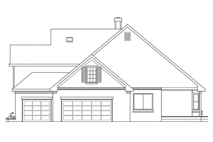 Country House Plan - Heartwood 72670 - Right Exterior