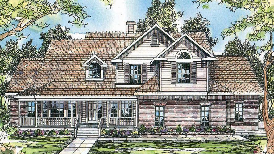 Country House Plan - Heartwood 72670 - Front Exterior