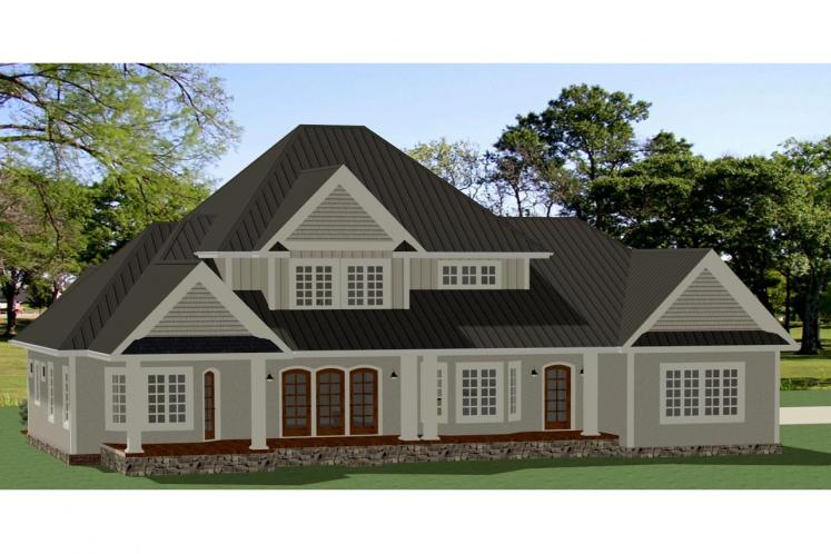 Traditional House Plan - Ridgecrest 72963 - Rear Exterior