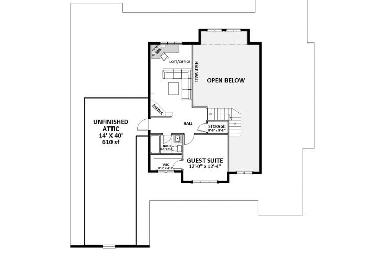 Traditional House Plan - Ridgecrest 72963 - 2nd Floor Plan