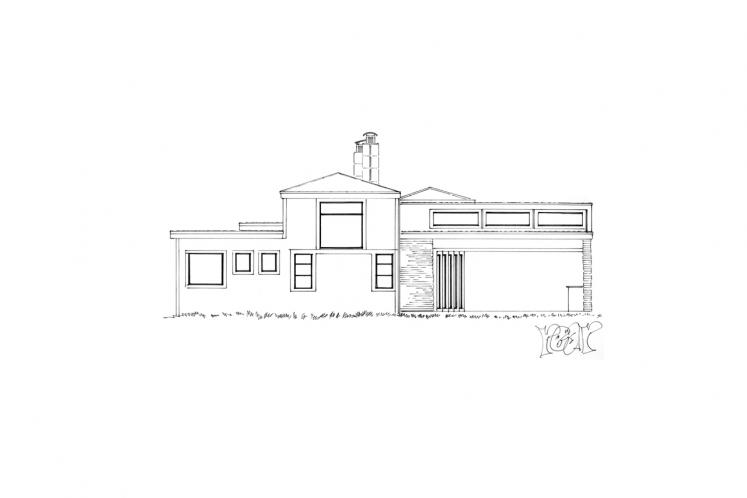 Modern House Plan -  72988 - Rear Exterior