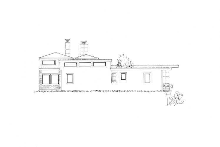 Ranch House Plan -  72988 - Left Exterior