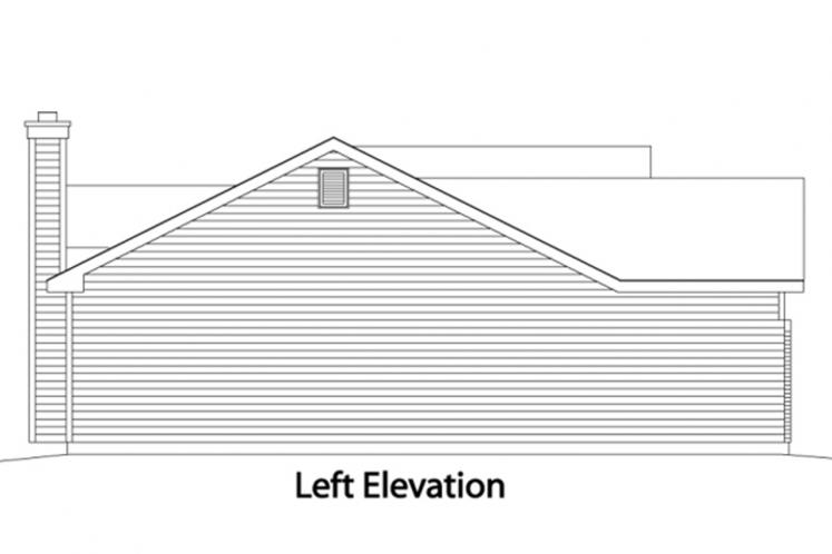 Ranch House Plan -  73033 - Left Exterior