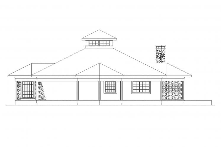 Craftsman House Plan - Clematis 73071 - Right Exterior