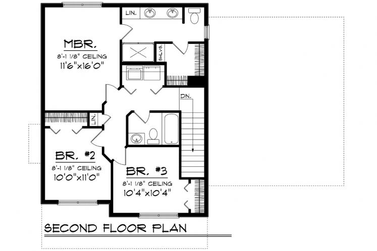 Classic House Plan -  73074 - 2nd Floor Plan