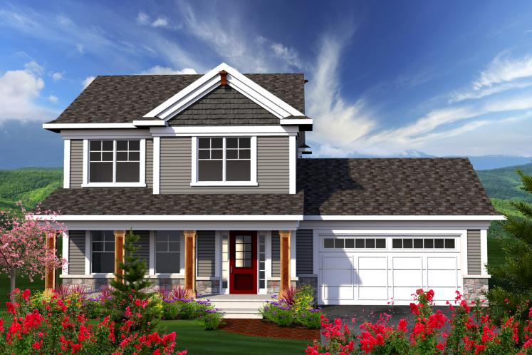 Traditional House Plan -  73074 - Front Exterior