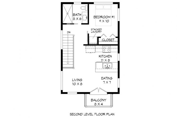 Modern Garage Plan -  73099 - 2nd Floor Plan