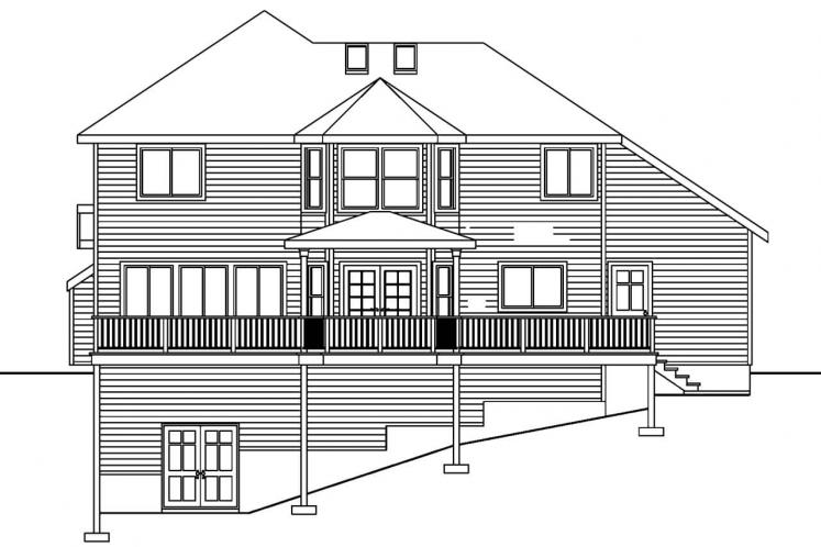 Traditional House Plan - Frederick 73254 - Rear Exterior