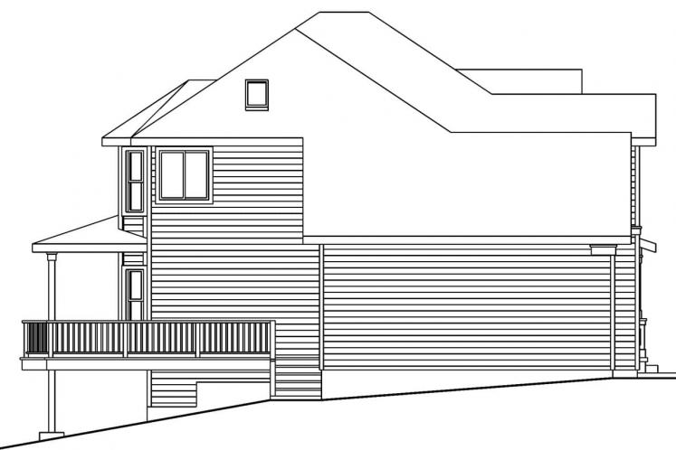 Country House Plan - Frederick 73254 - Left Exterior