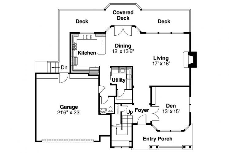 Country House Plan - Frederick 73254 - 1st Floor Plan