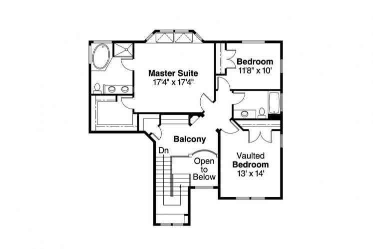 Traditional House Plan - Frederick 73254 - 2nd Floor Plan