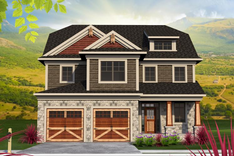Craftsman House Plan -  73348 - Front Exterior