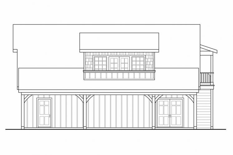 Country Garage Plan -  73423 - Right Exterior