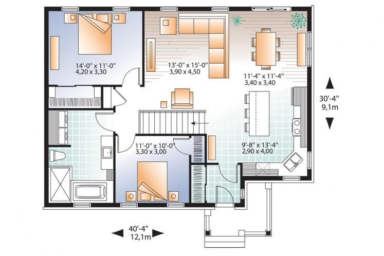 Country House Plan - Erindale 2 73439 - 1st Floor Plan