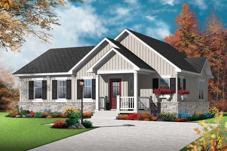 Country House Plan - Erindale 2 73439 - Front Exterior