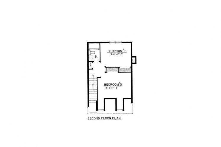 Colonial House Plan -  73442 - 2nd Floor Plan