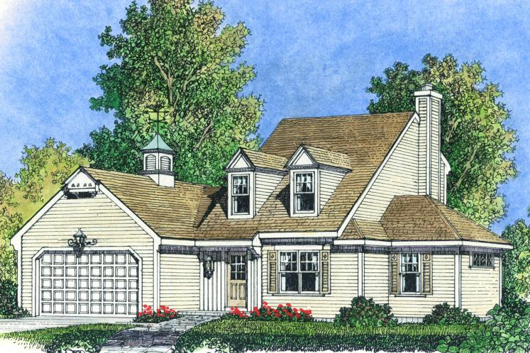 Colonial House Plan -  73442 - Front Exterior
