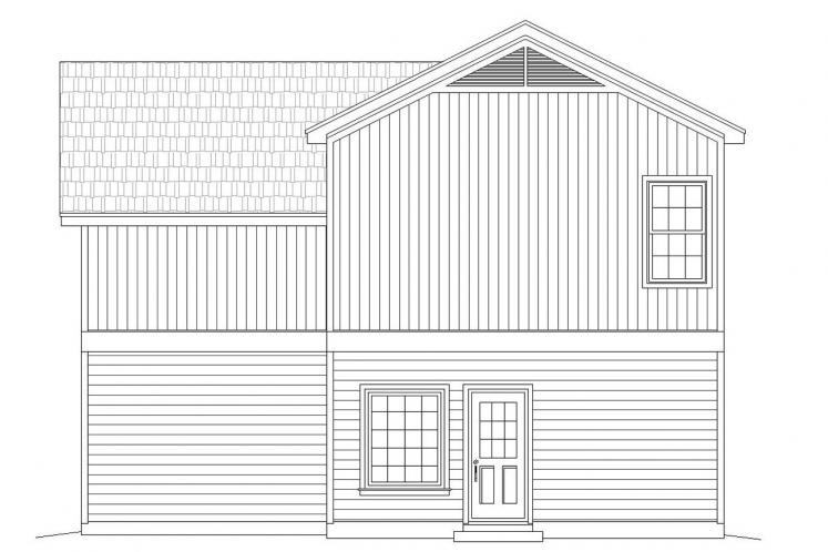 Country House Plan -  73638 - Rear Exterior