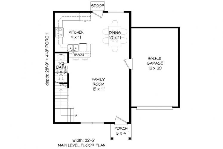 Traditional House Plan -  73638 - 1st Floor Plan
