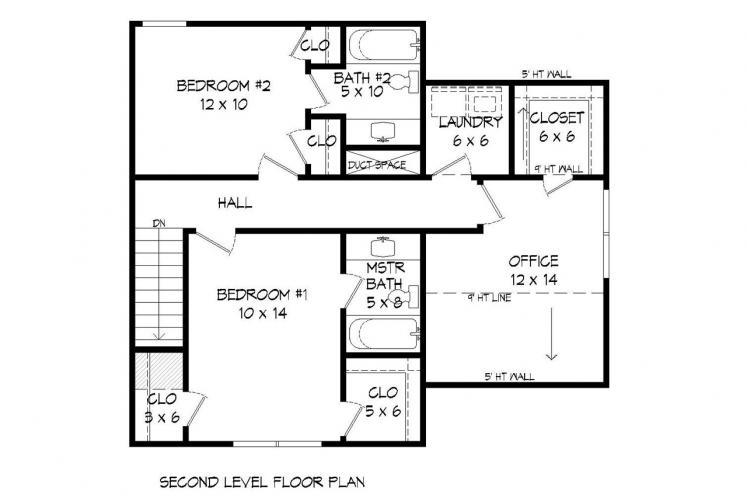 Country House Plan -  73638 - 2nd Floor Plan