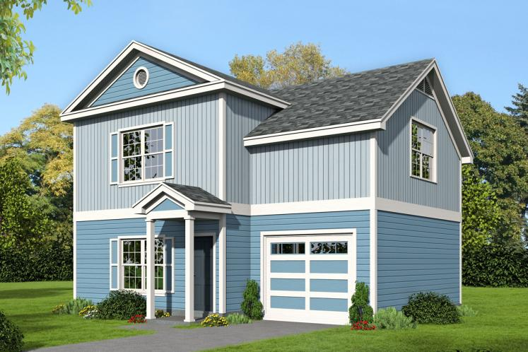Traditional House Plan -  73638 - Front Exterior