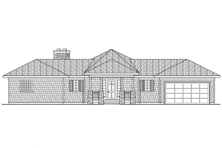 Craftsman House Plan - Vista 73751 - Front Exterior
