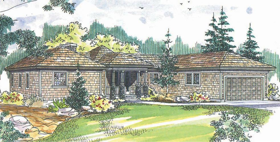 Contemporary House Plan - Vista 73751 - Front Exterior