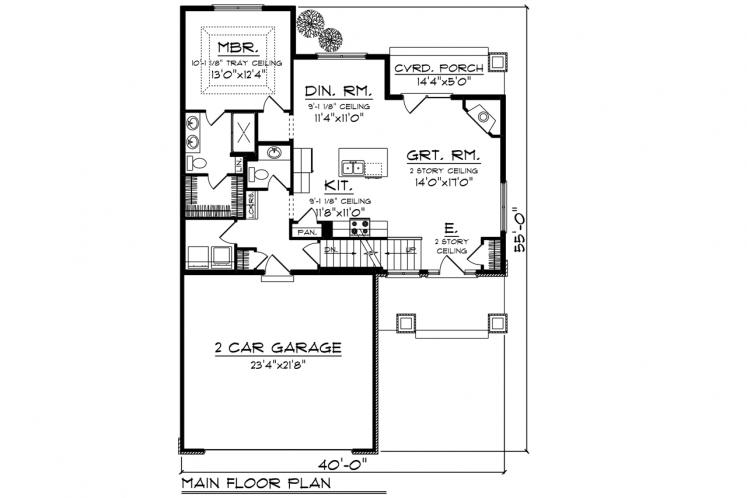 Traditional House Plan -  73769 - 1st Floor Plan