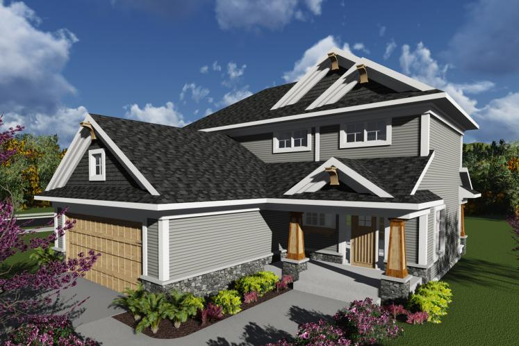 Craftsman House Plan -  73769 - Front Exterior
