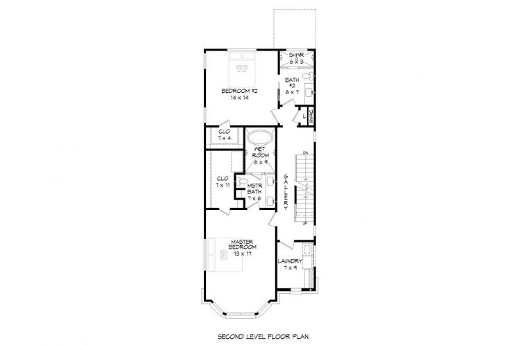 Classic House Plan - Brownstone 73859 - 2nd Floor Plan